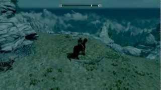 Skyrim - Daedric armor and Shadowmere