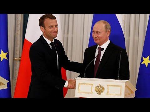 Συνάντηση Πούτιν – Μακρόν στην Αγία Πετρούπολη