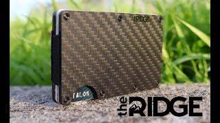 The RIDGE wallet | Carbon Fiber