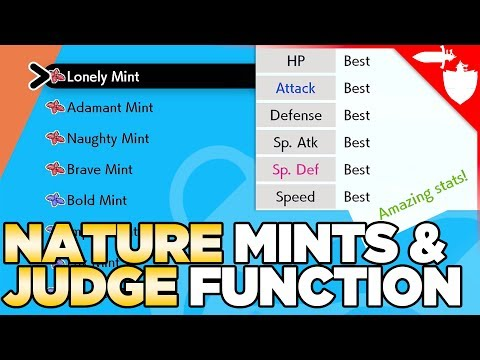 Change Your Pokemon's Nature, Nature Mints, & Get the Judge Function in Pokemon Sword and Shield