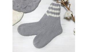Вязаные носочки / Вязаные носочки спицами из ангоры / Вязаные носки снова в моде