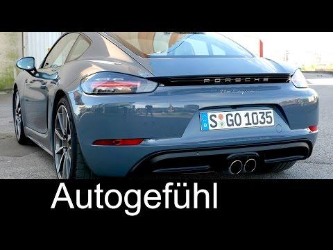 Sound check Porsche 718 Cayman 4-cylinder, sport plus + exhaust valve