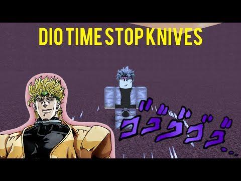 Roblox Script Showcase Dio Time Stop Knives