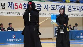이충무공탄신기념 검도대회 한하늘(경주시청) 이성희(포항시체육회) 동영상