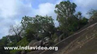 Vindhyagiri Hill in Shravanabelagola in Karnataka