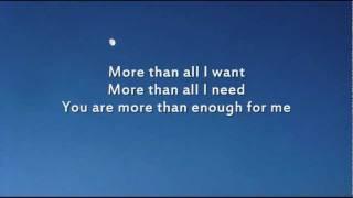 Chris Tomlin - Enough - Instrumental with lyrics