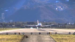 preview picture of video 'Transaero B747-446 EI-XLC LOWS'