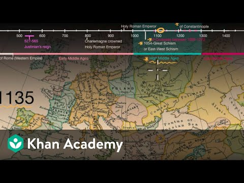Map Of Spain 8th Century.Overview Of The Middle Ages Video Khan Academy