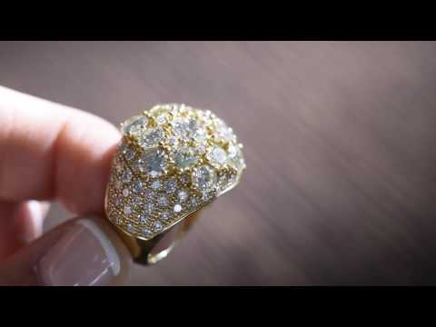 Outlet de joyería: la sortija de diamantes ARCOIRIS