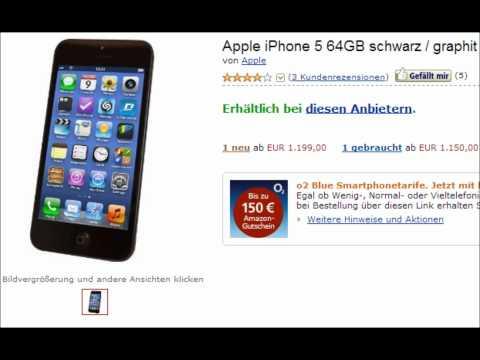 Apple iPhone 5 64GB schwarz / graphit - schon ab 830,- Euro ohne Vertrag
