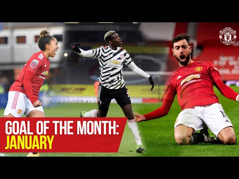 Goal of the Month: January | Pogba Fernandes James Galton Hugill | Manchester United