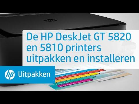 De HP DeskJet GT 5820 en 5810 printers uitpakken en installeren