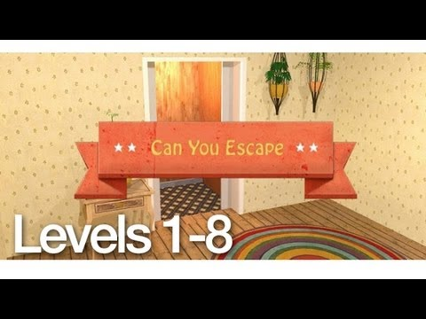 Can You Escape Walkthrough Levels 1-8