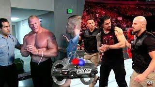 عندما تقبض الشرطة على المصارعين - بروك ليسنر رومان رينز قولدبيرق ذا شيلد !!!