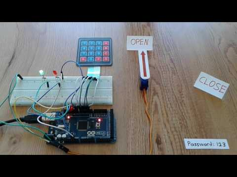 Arduino Door Lock Using 4 215 4 Keypad And Servo Motor Open