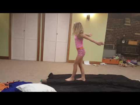 Little gymnastics girl