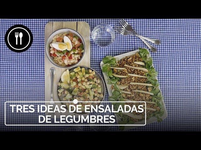 Tres ensaladas FÁCILES y RÁPIDAS con LEGUMBRES | Directo al Paladar