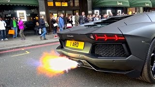 Stealth Aventador w/Capristo Exhaust | Loud Revs & Flames!