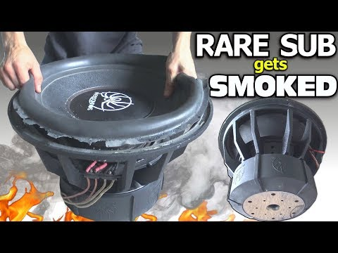 BLOWING a $1000 SUBWOOFER… in 3 Minutes?? RARE 18″ Sub BLOWOUT | BASS Speaker TEARDOWN!!!