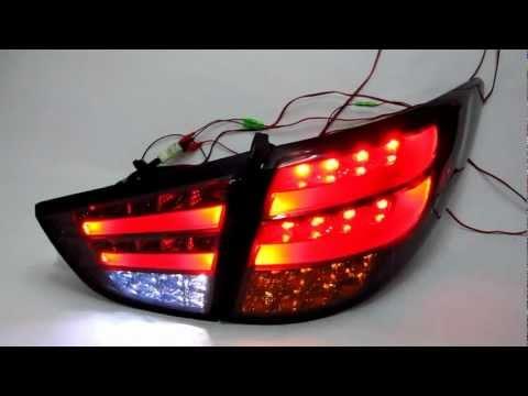 IX35 Tucson 2009-Present ALL LED TAIL Rear Light Smoke for Hyundai