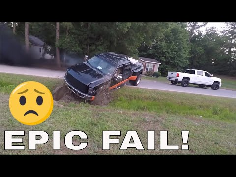 Duramax SAVES An Over Confident Ford From A Mud Hole!