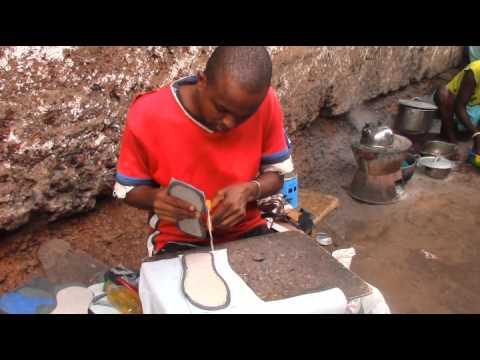 Making Sandals in Sierra Leone : kaikai news