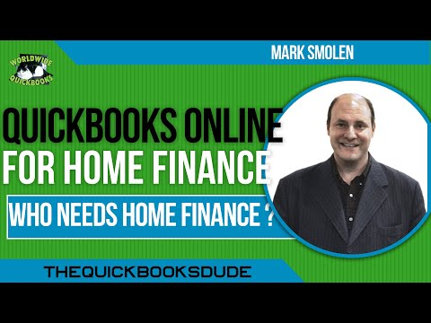 QuickBooks Online Home Finance Non Business, Personal Records