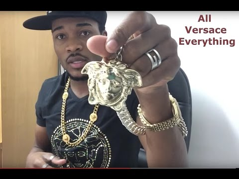 Versace, all Versace everything ( Bracelet, Earrings, Pen, Chains and Belt )