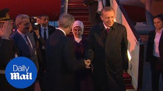 Erdogan and wife attend Presidential dinner in Azerbaijan - Daily Mail