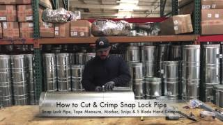 How-To Cut & Crimp Snap Lock Pipe - The Duct Shop