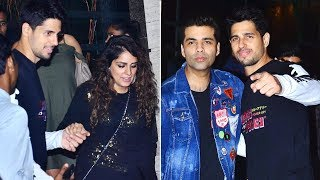 Sidharth Malhotra rings in 33rd birthday with Karan Johar and friends