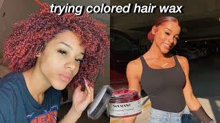 Trying Colored Hair Wax On My Curly Hair | Azlia Williams