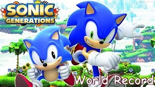 Sonic Generations Any% Speedrun in 56:21 (NEW WORLD RECORD)
