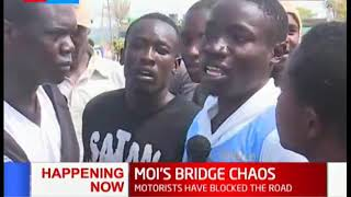 Chaos at Moi's bridge after students protest the death of one of their own