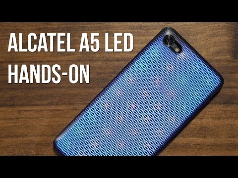 Alcatel A5 LED hands-on