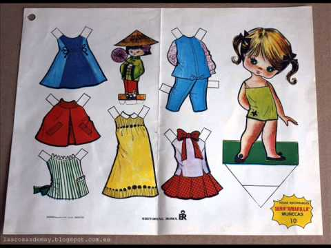 muñecas recortables. paper dolls.wmv