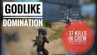 GodL Crew Challenge Domination- First Ever Match |PUBG MOBILE|Hruth Forever