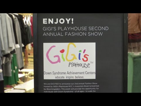 Watch video 'Poppin'' fashion show for Gigi's Playhouse NYC