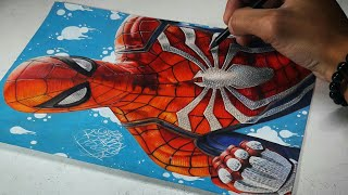 Drawing Spider Man (Playstation 4 Game)