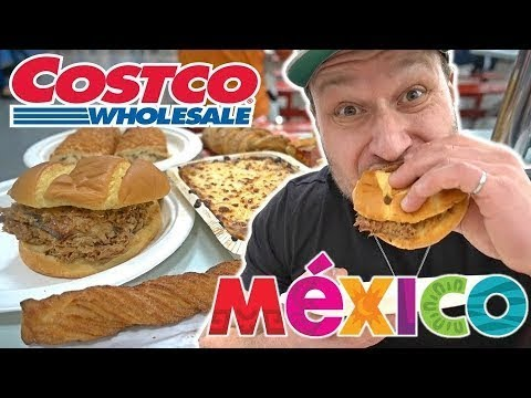 Trying MEXICAN Costco FOOD COURT Fast Food For The First Time!