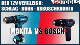 12V Akkuschrauber mit Schlag - Vergleich Bosch GSB12V15 VS. Makita HP331D