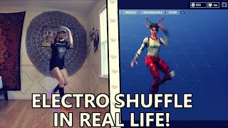 Fortnite ELECTRO SHUFFLE in REAL LIFE! (Original)