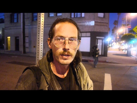Homeless man talks openly about being addicted to heroin