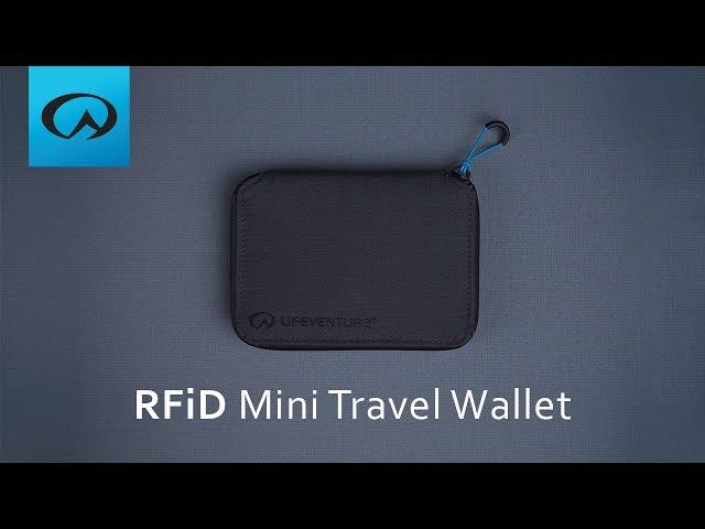 Видео Кошелек Lifeventure RFID Mini Travel Wallet black