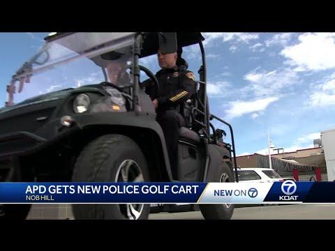 Golf Cart Cop Car joins APD's fleet