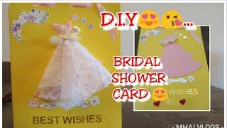 D.I.Y BRIDAL SHOWER CARD 😍/Mhaivlogs