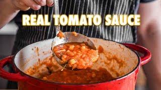 Proper Tomato Sauce Using Fresh Tomatoes (3 ingredients)