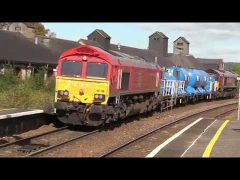 DB Cargo 66027 & 66136 at Newton Abbot with RHTT 5th October…