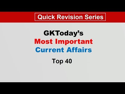 Week 4(23-31 July) Top 40 Question July 2019 | Current Affairs[English]