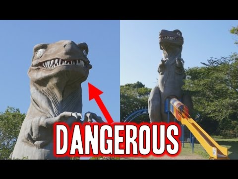 WARNING STAY AWAY FROM THIS T-REX SLIDE